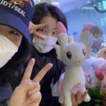 【朝の散歩】UFOキャッチャーをしてから、ロト宝くじを買った。韓国人の友達との散歩!