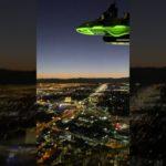 ラスベガス ストラトスフィアからの夜景とX-Scream