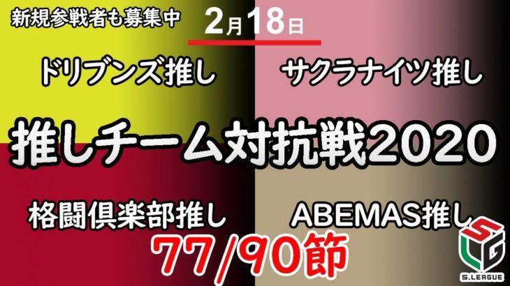 [麻雀]推しチーム対抗戦2020 77/90節 ド×サ×格×A