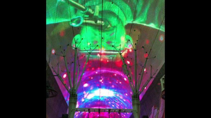 Rock music in the Fremont Street Experience Las Vegas downtown 2019  ラスベガス フリーモントストリートエクスペリエンス 2019