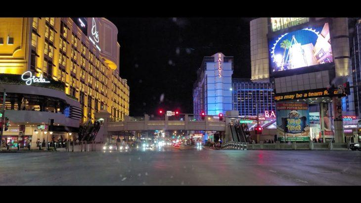 las vegas strip at night 🌃 夜のラスベガスストリップ