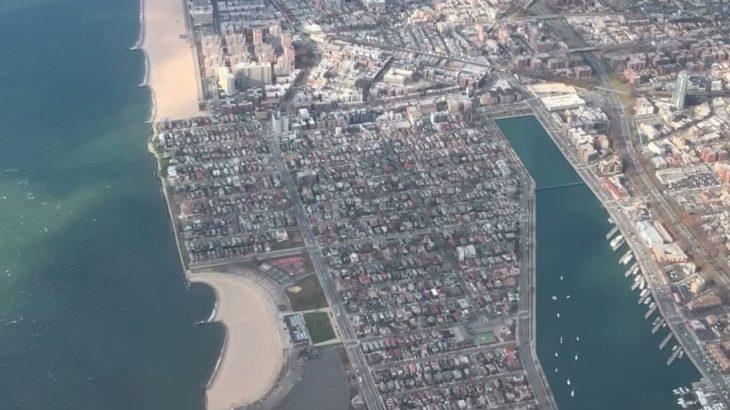 アラスカ航空 ニューヨーサンフランシスコ 予約変更して乗り換えてラスベガスへ。