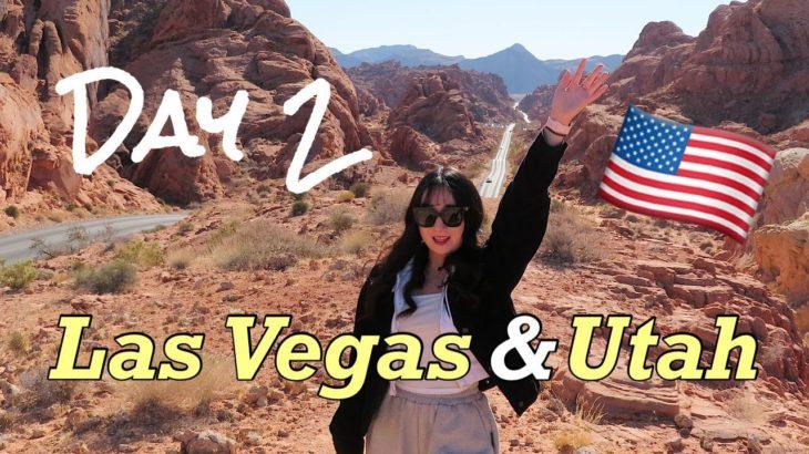 【Road Trip】Vlog | ラスベガスから7時間かけてユタ州に行くよ〜🚗